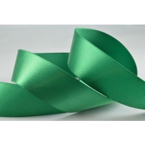 54033 - 25mm Green Single Sided Satin (100 Metres)