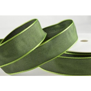 44073 - 25mm Emerald Green Wired Decorative Ribbon (25 Metres)