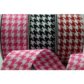 77023 - 25mm & 38mm Woven Chevron Check Ribbon x 20 Metre Rolls!