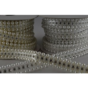 88053 - 12mm Acrylic Crystal Diamante Strip x 3 Metre Rolls!!
