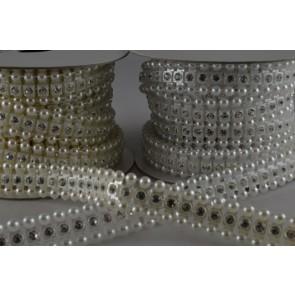 88053 - 12mm Acrylic Crystal Diamante Strip x 3 Metre Rolls!!