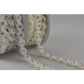 88054 - 8mm Decorative Rhinestone Beads x 3 Metre Rolls!