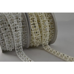 88056 - 12mm Beaded Crystal Decorations x 3 Metre Roll!