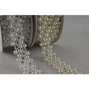 88057 - 14mm Beads with Small Crystals x 3 Metre Mesh!