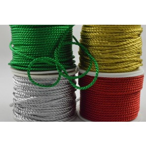 88067 - 2mm Coloured Wrapping Craft Cord x 20 Metre Rolls!!