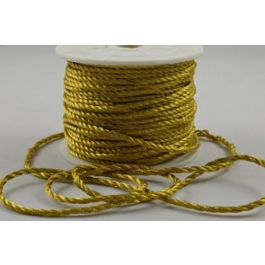 88067 - 2mm Gold Coloured Wrapping Craft Cord x 20 Metre Rolls!!