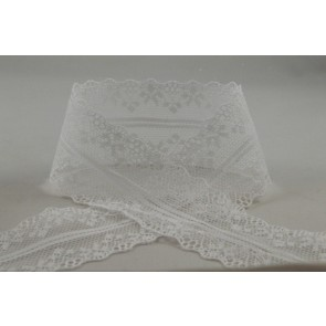 88073 - 38mm White Coloured Lace Design x 10 Metre Rolls!!