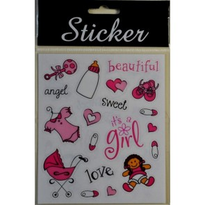 88078 - Pink Baby Crafting Stickers
