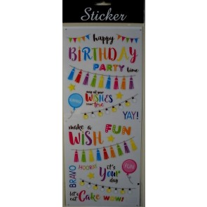 88083 - Happy Birthday Celebration Stickers