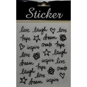 88111 - Live Laugh Love Create Stickers