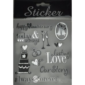 88116 - Happy Anniversary Selection of Stickers