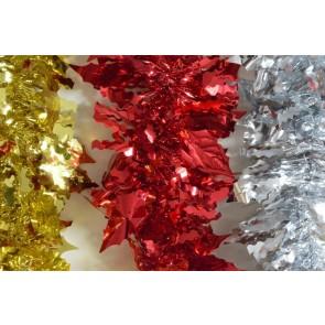88138 - Coloured Holly Leaf Tinsel x 2 Metre Lengths!