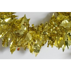 88138 - Gold Coloured Holly Leaf Tinsel x 2 Metre Lengths!