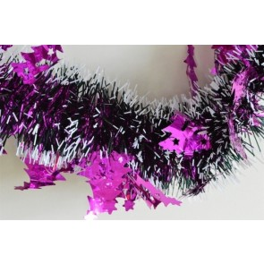 88140 - Pink Triple Coloured Christmas Tree Tinsel x 2 Metre Lengths!
