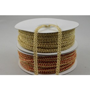 88146 - 5mm Colour Woven Decorative Band x 25 Metre Rolls!