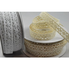 88150 - 12mm Lace Ribbon x 15 Metre Rolls!