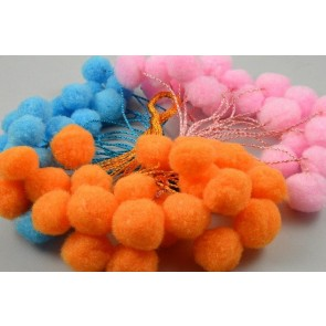 88162 - 15mm Coloured Decorative Pom Poms!