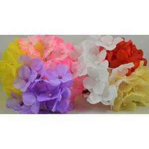88164 - 30mm Coloured Decorative Cord Flowers!