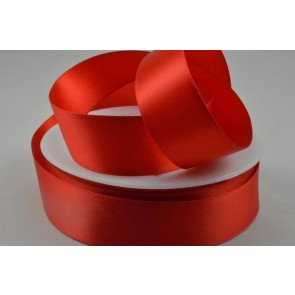 93977 - 7mm Red Double Sided Satin x 25 Metre Rolls!