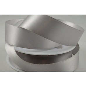 93977 - 7mm Light Silver Double Sided Satin x 25 Metre Rolls!