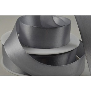 93977 - 25mm Silver Double Sided Satin x 25 Metre Rolls!