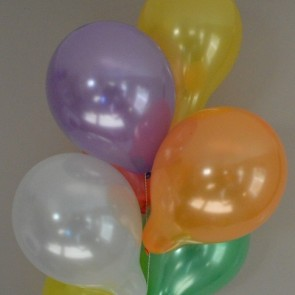 "10"" Latex Metallic Balloons (Pack of 6)"
