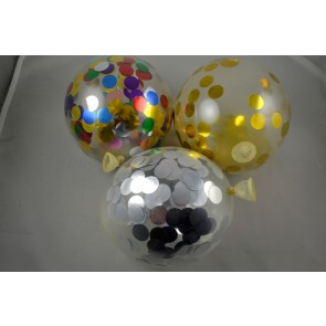 "12"" Latex Confetti Balloons (Pack of 6)"