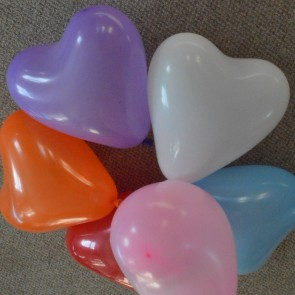 "12"" Love Heart Latex Balloons (Pack of 6)"