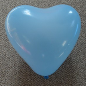 """12"""" Baby Pink Love Heart Latex Balloons (Pack of 6)"""