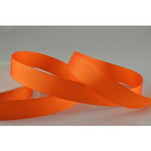 53754 - 10mm Orange Grosgrain Ribbon x 20 Metre Rolls!