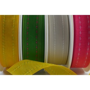 43920 - 40mm Wired Colour Woven Ribbon x 20 Metre Rolls!