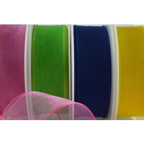 44249 - 25mm & 40mm Wired Sheer Colour Ribbon (20 Metres)
