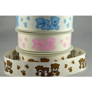 54553 - 16mm Teddy Bear Ribbon x 20 Metre Rolls!