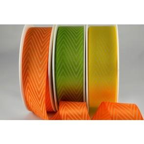 54549 - 25mm & 38mm Coloured Chevron Ribbon (20 Metres)