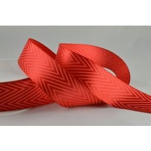 54549 - 38mm Red Coloured Chevron Ribbon (20 Metres)