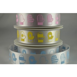54592 - 15mm & 25mm Printed Coloured Baking Gloves (20 Metres)