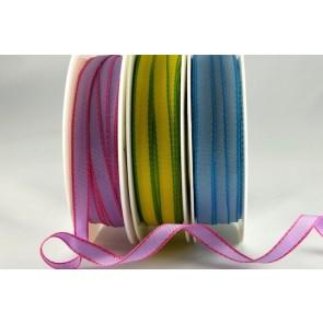 54564 - 6mm Woven Edge Coloured Ribbon (20 Metres)