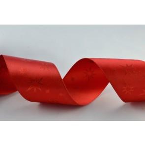 55002 - 38mm Red Starred Printed Ribbon (20 Metres)