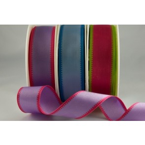 43910 - 25mm & 40mm Wired Coloured Woven Edge (20 Metres)