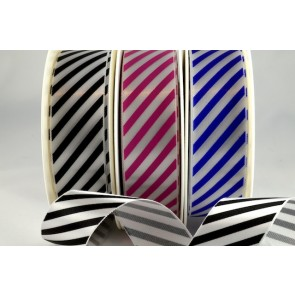 54351 - 25mm & 38mm Candy Stripe Ribbon (20 Metres & 100 Metres)