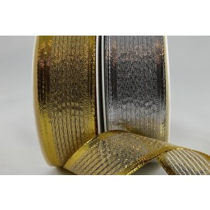 40019 - 15mm, 25mm & 40mm Wired Lurex Ribbon (20 Metres)