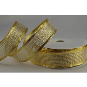 40019 - 15mm Gold Wired Lurex Ribbon (20 Metres)