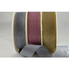 54034 - 19mm, 24mm & 36mm Lurex Ribbon with Lurex Edge (20 Metres & 100 Metres)