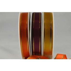 50020 - 12mm Gold Tramline Ribbon (25 Metres/50 Metres)