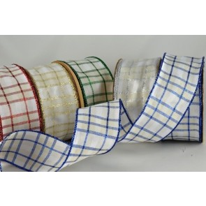 44599 - 40mm Wired Lurex Tartan (20 Metres)