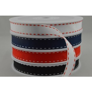 55046 - 15mm Grosgrain Ribbon with Stitched Edges x 20 Metre Rolls!
