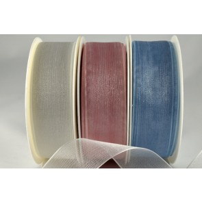 54419 - 3mm, 9mm, 15mm, 25mm, & 40mm Sheer Ribbon (25 Metres & 50 Metres)