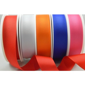 53754 - 6mm, 10mm, 16mm, 22mm & 38mm Plain Grosgrain Ribbon (20 Metres)