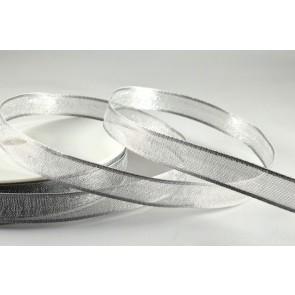 44095 - 10mm Silver Narrow Wired Sheer x 3 Metre Rolls!!
