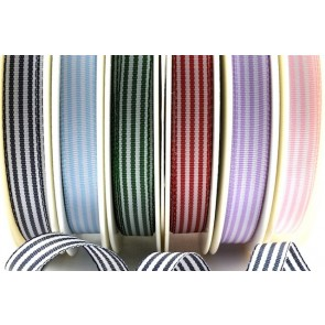 54231 - 5mm & 10mm Pencil Stripe Ribbon (25 Metres)